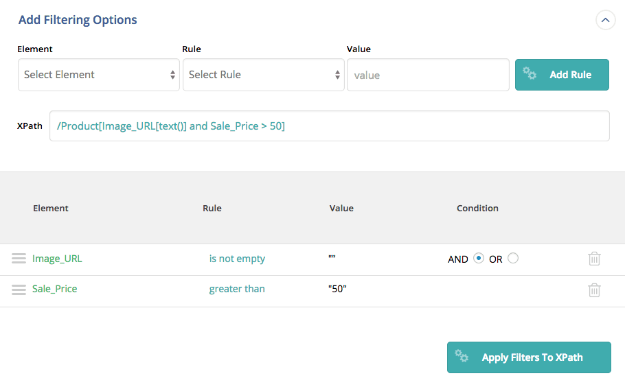 Filtering Options